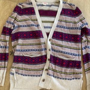Cardigan - Mossimo Colorful Striped button front
